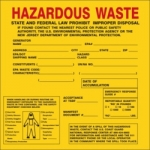 Hazardous Waste Shipping Labels